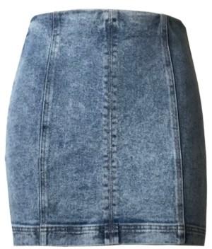 Tinseltown Juniors' Seamed Denim Mini Skirt