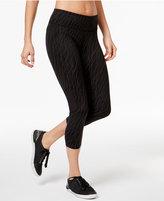 Calvin Klein Snake-Print Cropped Leggings