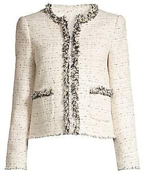 Rebecca Taylor Women's Fringed Tweed Jacket