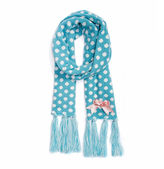 Muk Luks Polka Dot Oblong Knit Cold Weather Scarf