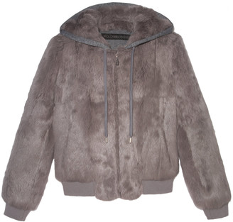 Pologeorgis The Lucy Rabbit-Fur Hooded Jacket