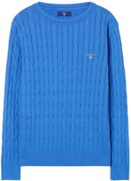 Gant Boys Cotton Cable Crew Sweater