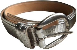 Max Mara Silver Leather Belts