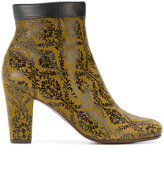 Chie Mihara embroidered zipped boots - women - Leather/rubber - 36