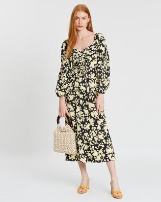 Topshop Daisy Pleat Bust Dress