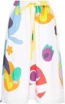 Mira Mikati Abstract Patterned Midi Skirt