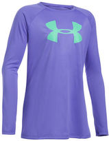 Under Armour Girls 7-16 Long Sleeve Signature Logo Tee