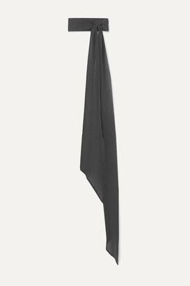 Saint Laurent Polka-dot Silk-chiffon Scarf - Black