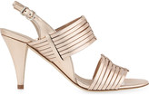 Claudie Pierlot Adelais metallic leather heeled sandals