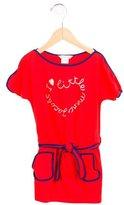 Little Marc Jacobs Girls' Logo Print Belted Dress