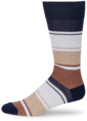 Saks Fifth Avenue COLLECTION Mid-Calf Blended Stripe Socks