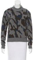 Veronica Beard Crew Neck Camouflage Sweater