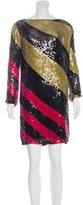 Sonia Rykiel 2016 Striped Sequined Dress