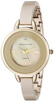 Anne Klein Women's AK/2132TNGB Diamond-Accented Tan Ceramic Bangle Watch