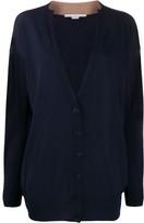 Stella McCartney V-neck contrasting collar cardigan