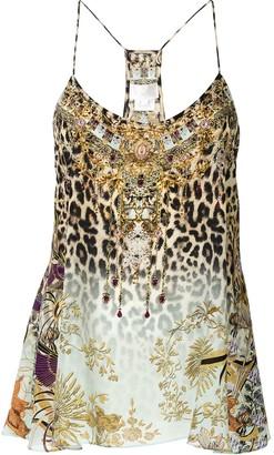 Camilla Sleeveless Printed Silk Top