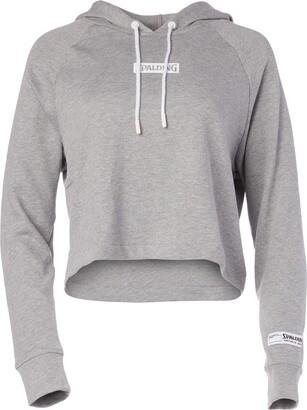 Spalding Women's Activewear Heritage Crop Hoodie Sweatshirt