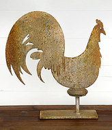 Park Hill Antiqued Iron Rooster Decor