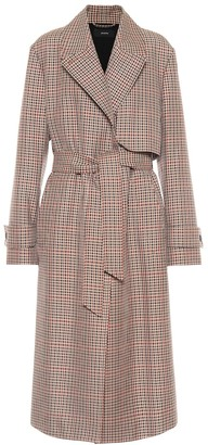 Joseph Checked wool-blend trench coat