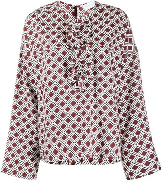 Christian Wijnants Tayla patterned blouse