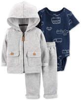 Carter Baby Boys 3-Pc. Hoodie, Bodysuit & Jogger Pants Set