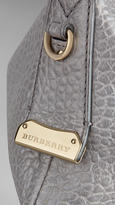 Burberry Small Signature Grain Leather Hobo Bag