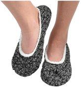 Snoozies Womens Quilted Ballerina Comfort Split Slipper Socks