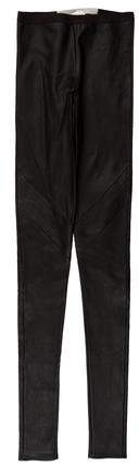 Rick Owens Leather Mid-Rise Leggings w/ Tags