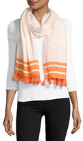 MICHAEL Michael Kors Windowpane Fringed Scarf