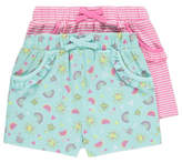 George 2 Pack Assorted Shorts