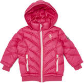 U.S. Polo Assn. Fuchsia Hooded Puffer Jacket - Toddler & Girls