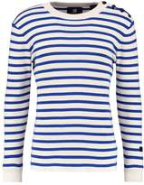 Gstar Dadin Stripe R Knit L/s Jumper Off White/blue
