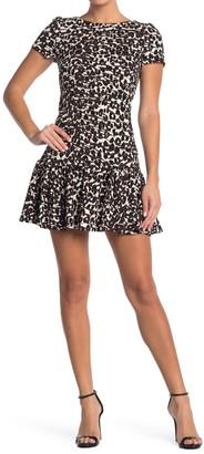 Betsey Johnson Flounce Hem Mini Dress (Regular & Plus Size)