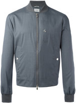 Brunello Cucinelli zipped bomber jacket - men - Silk/Cotton/Wool - 48