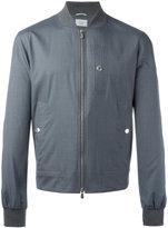 Brunello Cucinelli zipped bomber jacket - men - Silk/Wool/Cotton - 48