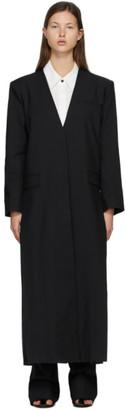 Esse Studios SSENSE Exclusive Black Collarless Coat