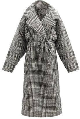 Norma Kamali Boyfriend Sleeping Bag Prince Of Wales-check Coat - Grey Print