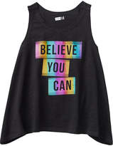 Crazy 8 Black 'Believe You Can' Active Tank - Toddler & Girls