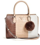 GUESS Rhoda Crocodile-Embossed Satchel