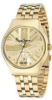 Pepe Jeans Joey Men's Quartz Watch with Gold Dial Analogue Display and Gold Stainless Steel Strap R2353113002