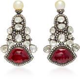Amrapali One-Of-A-Kind Diamond And Ruby Drop Earrings