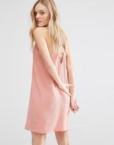 MANGO Scallop Trim Cami Dress