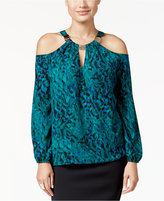 Thalia Sodi Cold-Shoulder Hardware Top, Only at Macy's