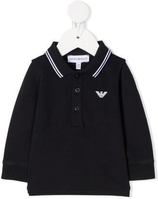 Emporio Armani Kids Long Sleeved Polo Shirt