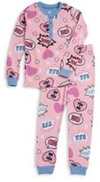 Petit Lem Little Girl's Cotton Printed Tee & Pants Set