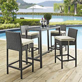Modway Sojourn 5 Piece Bar Height Dining Set with Cushion Cushion