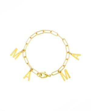 ADORNIA Mama Dangle Paper Clip Chain Bracelet