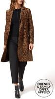 LK Bennett Dia Leopard Print Coat In Pony Hair
