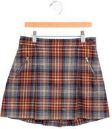 Bonpoint Girls' Wool Plaid Skirt