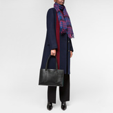Paul Smith Women's Navy And Damson Check Lambswool-Mohair Scarf